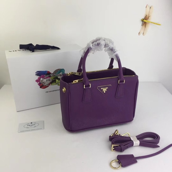 Prada Galleria Small Saffiano Leather Bag BN2316  purple