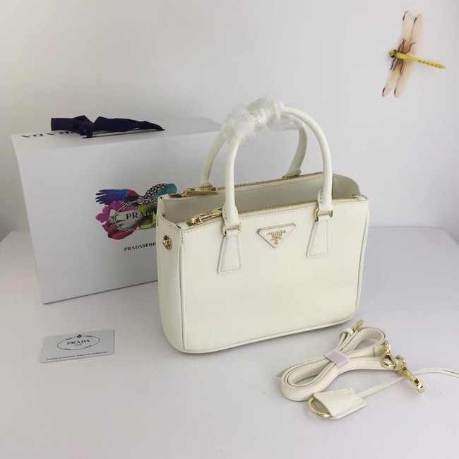 Prada Galleria Small Saffiano Leather Bag BN2316 white