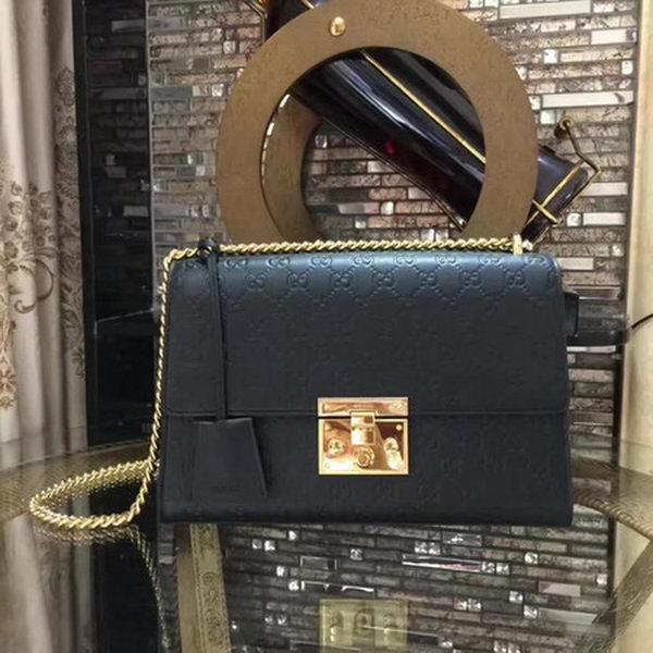 de497f986841 Gucci Padlock Series Gucci Signature Shoulder Bag 409486 Black
