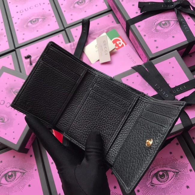 low cost b5da6 61588 Gucci GG Marmont card case 474746 black -www.ipaybox.com