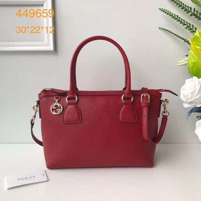 Gucci GG Classic Tote Bag 449659 red
