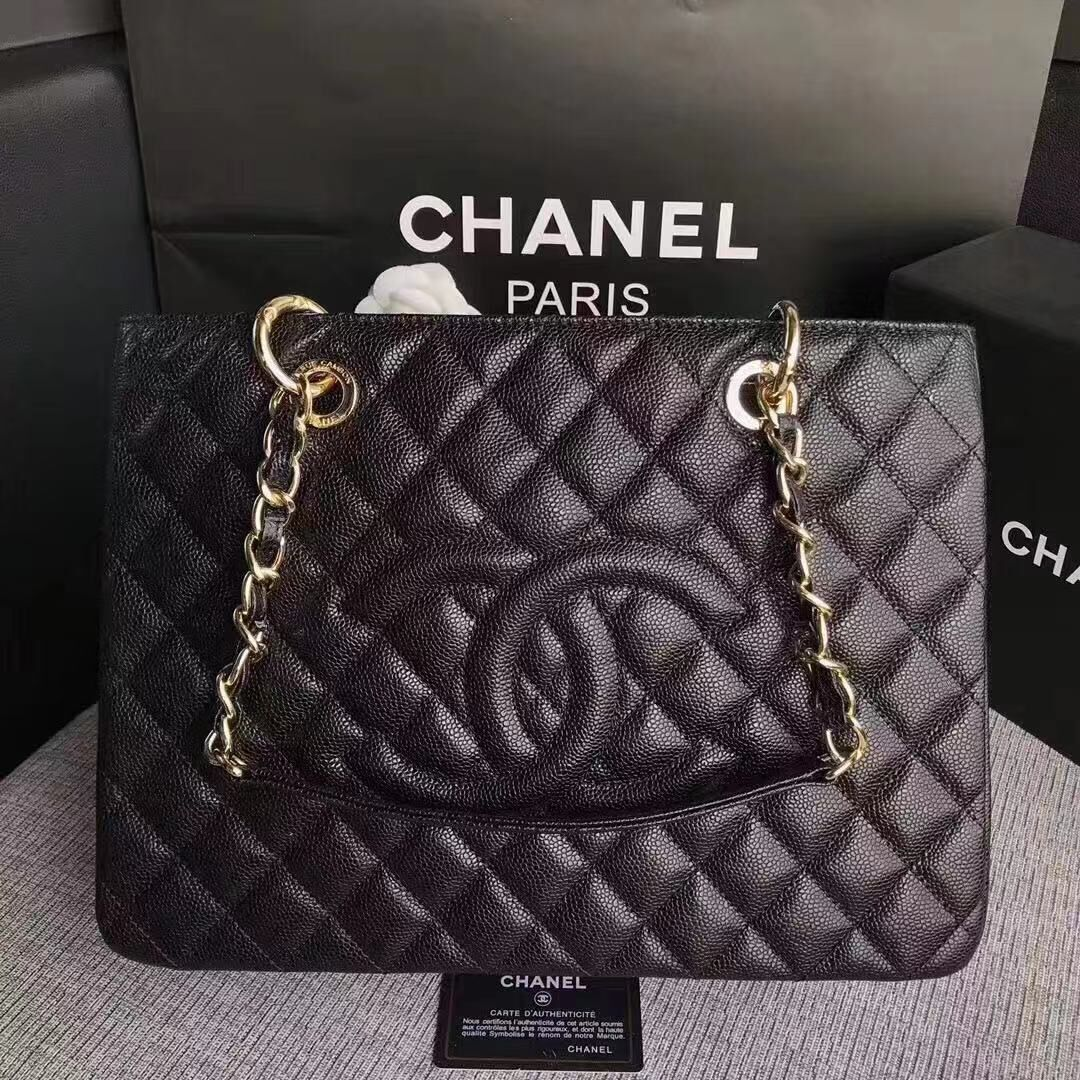 Chanel Caviar Calfskin Leather Tote Bag 20995 Black