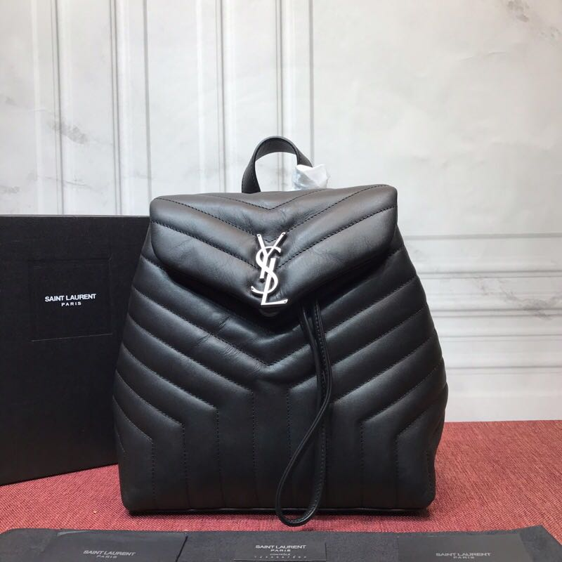 SAINT LAURENT City leather backpack 8051 black