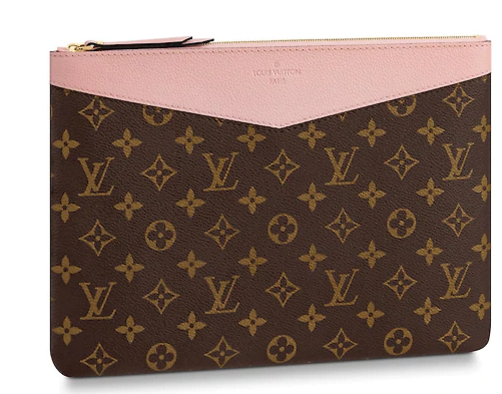 Louis vuitton original Monogram Canvas DAILY POUCH M62048 pink