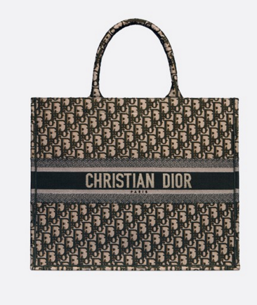 DIOR BOOK TOTE BAG DIOR OBLIQUE M1286Z green