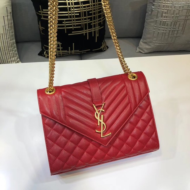 SAINT LAURENT Medium satchel 487206 red