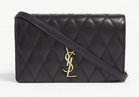 SAINT LAURENT Angie quilted leather shoulder bag 568906 black
