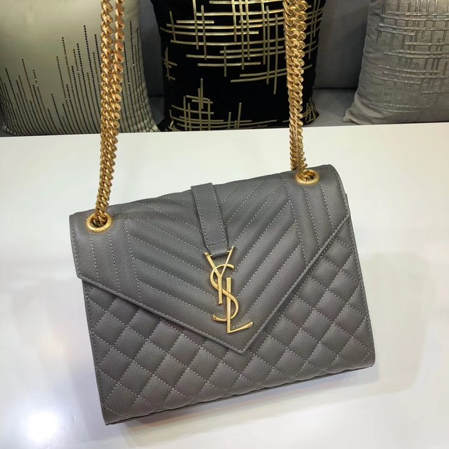 SAINT LAURENT Medium satchel 487206 grey