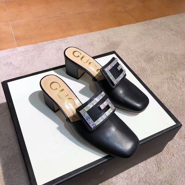 Gucci slide with crystal G GG1471BL-4