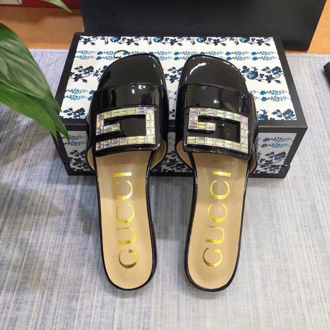 Gucci slide with crystal G GG1470BL-1