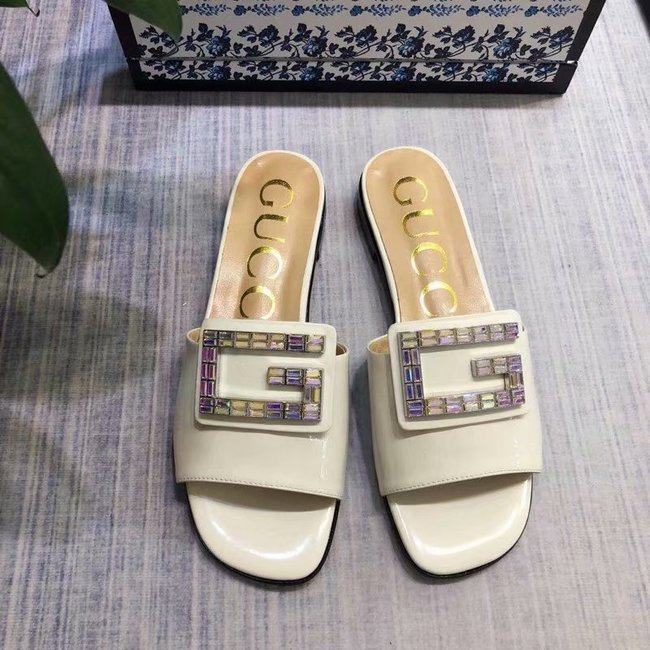Gucci slide with crystal G GG1470BL-2