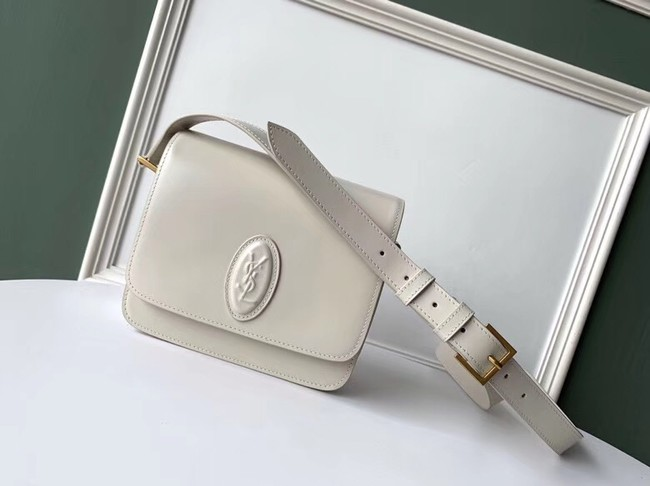 SAINT LAURENT leather shoulder bag 36966 white