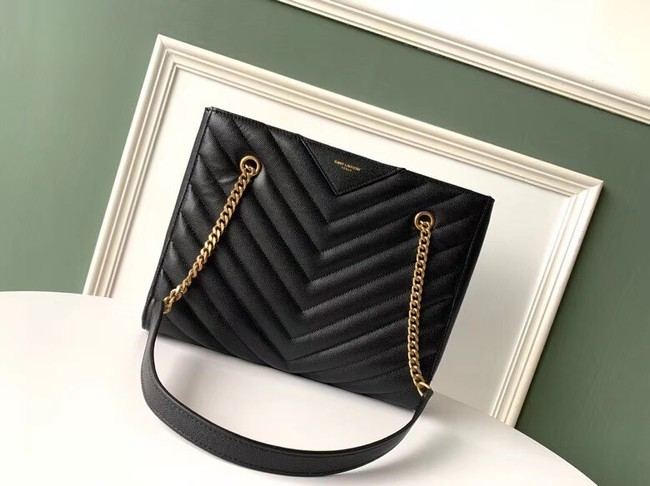 SAINT LAURENT leather shoulder bag 392742 black