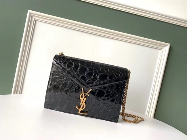 SAINT LAURENT leather shoulder bag 532750 black