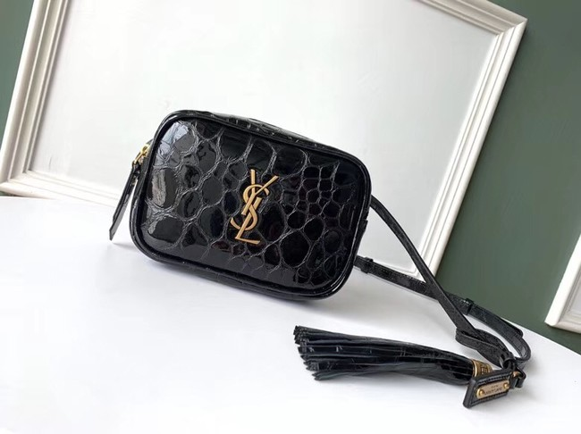 SAINT LAURENT leather shoulder bag 536650 black