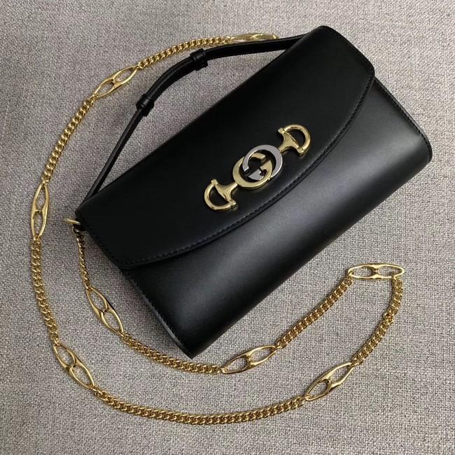 d40b24211569 GUCCI Zumi small leather shoulder bag 572375 black