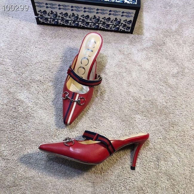 Gucci GG mid-heel pump with Double G GG1481BL-3 7cm height