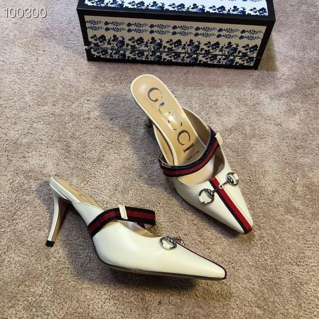 Gucci GG mid-heel pump with Double G GG1481BL-2 7cm height