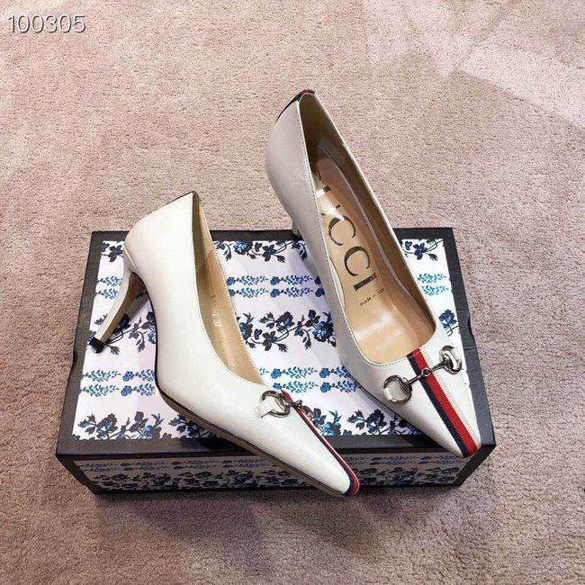 Gucci GG mid-heel pump with Double G GG1478BL-1 7cm height