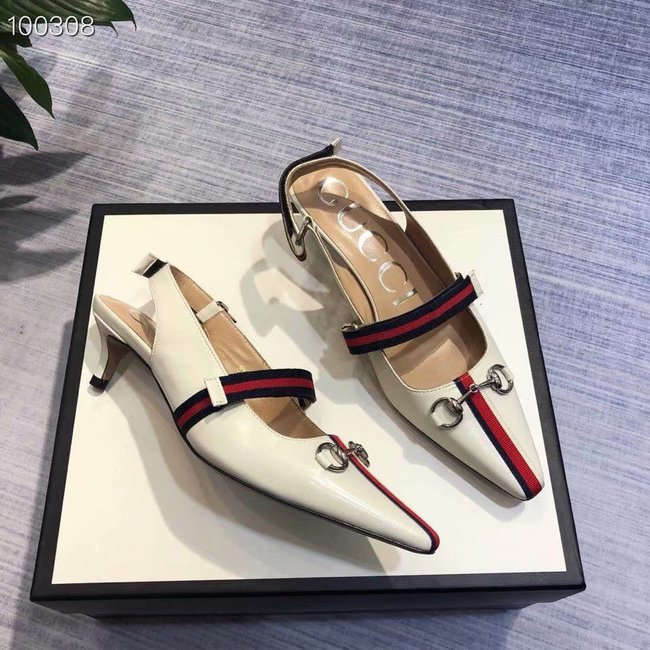Gucci GG mid-heel pump with Double G GG1482BL-3