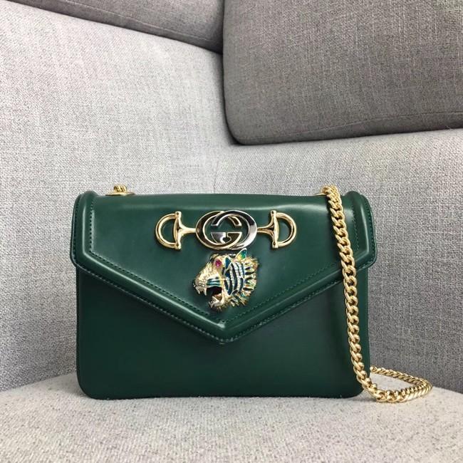 430f857cddff Gucci Rajah small shoulder bag 537243 Dark green