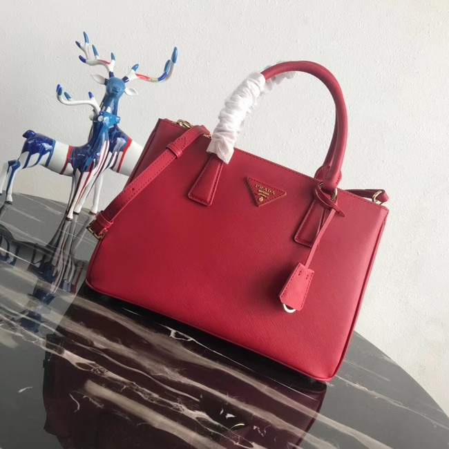 Prada Saffiano original Leather Tote Bag 1BA1801 red