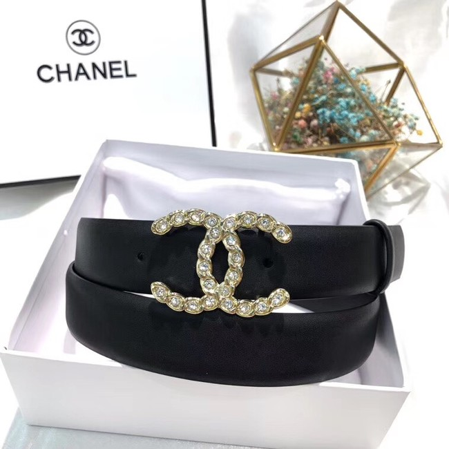 Chanel Calf Leather Belt Wide with 30mm 56590
