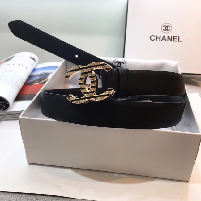 Chanel Calf Leather Belt Wide with 30mm 56595