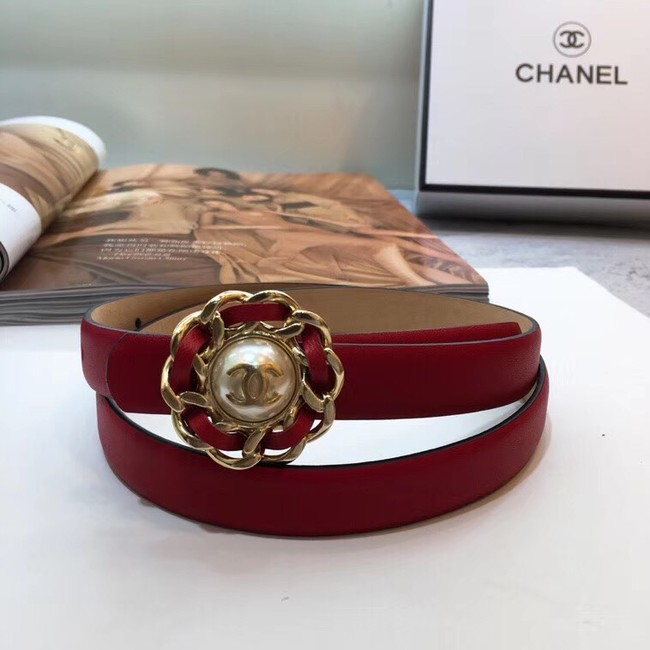 Chanel Calf Leather Belt Wide with 20mm 56610