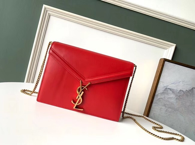 SAINT LAURENT Cassandra leather shoulder bag 532750 red