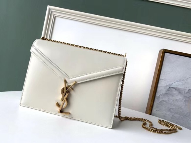SAINT LAURENT Cassandra leather shoulder bag 532750 white
