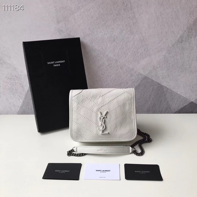 SAINT LAURENT Niki Mini leather shoulder bag 03743 white