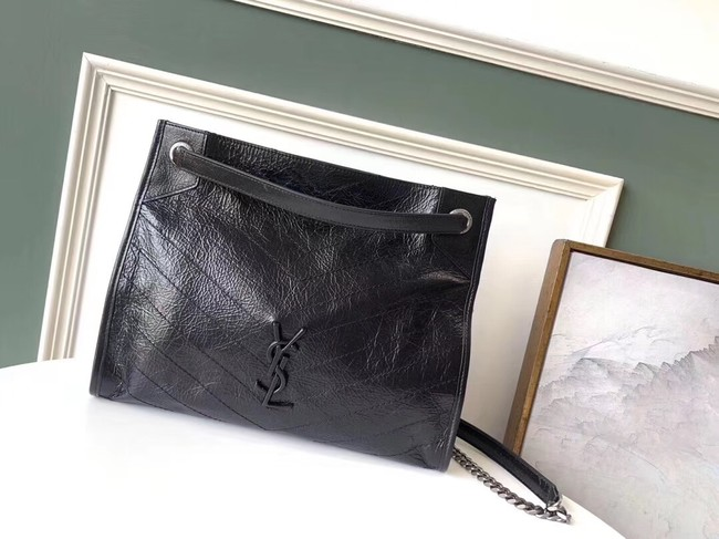 SAINT LAURENT Niki Medium leather shoulder bag 5814 black