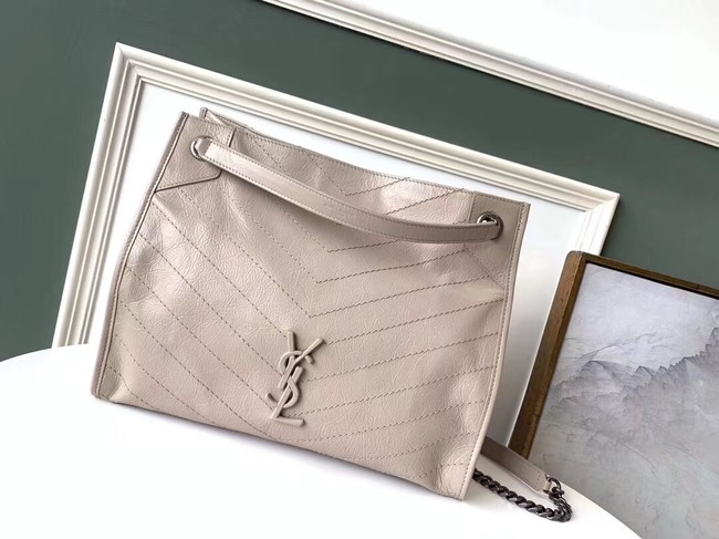 SAINT LAURENT Niki Medium leather shoulder bag 5814 beige