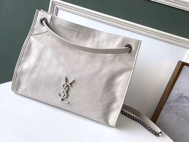 SAINT LAURENT Niki Medium leather shoulder bag 5814 white