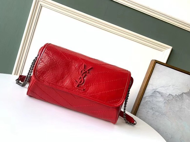 SAINT LAURENT Niki leather belt bag 577124 red