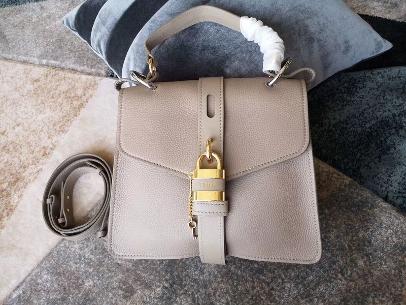 Chloe Original Buckskin Leather Lock Bag 3S088 Gray