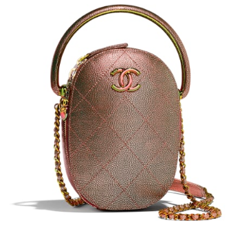 Chanel leather Camera bag AS0765 copper
