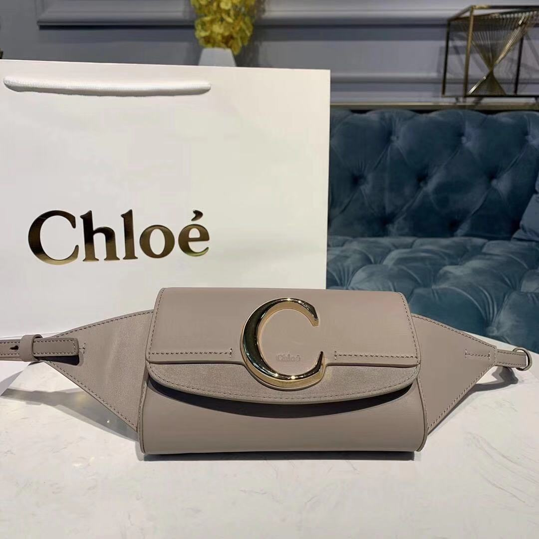 Chloe Original Leather Belt Bag 3S036 grey