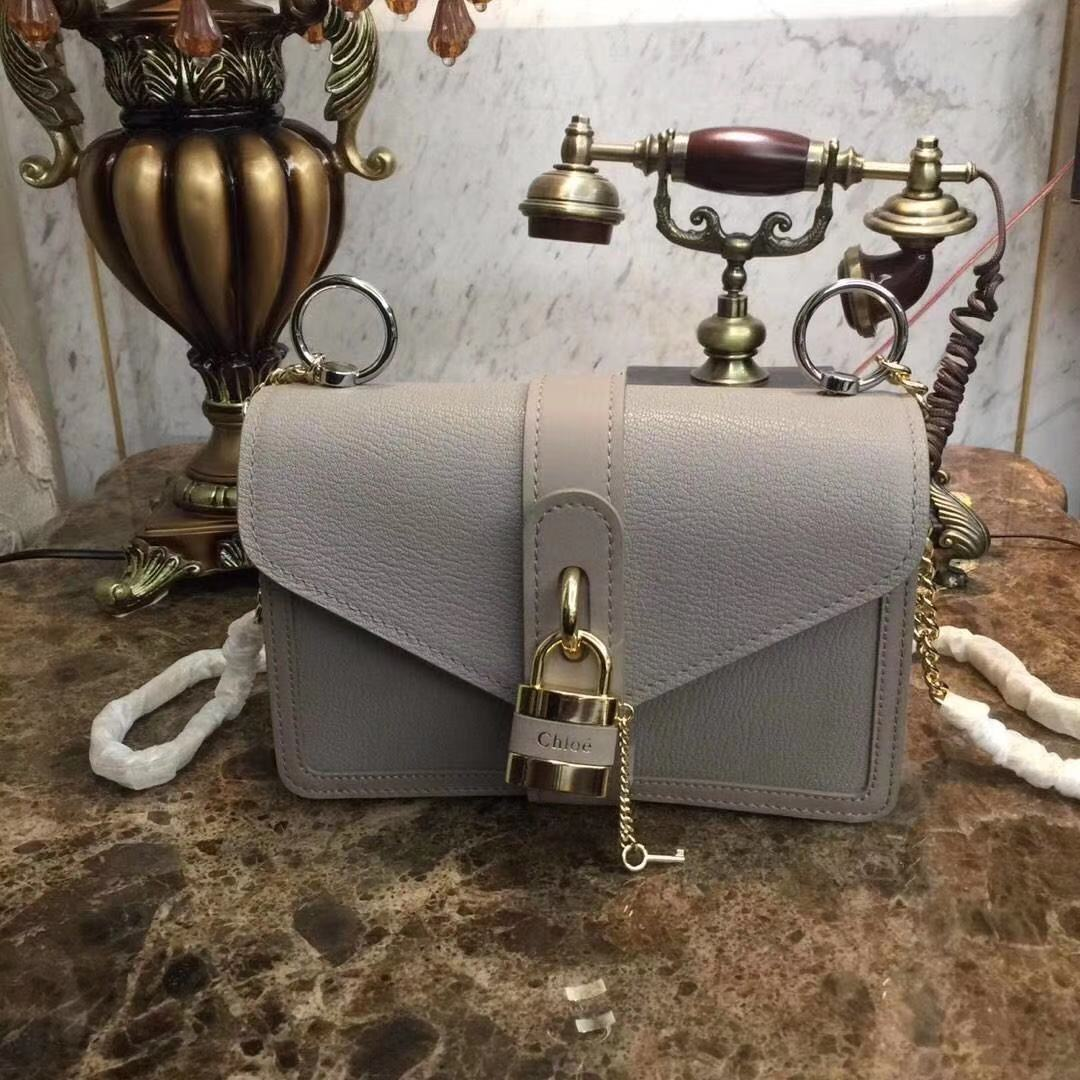 Chloe Original Calfskin Leather Bag 3S068 grey