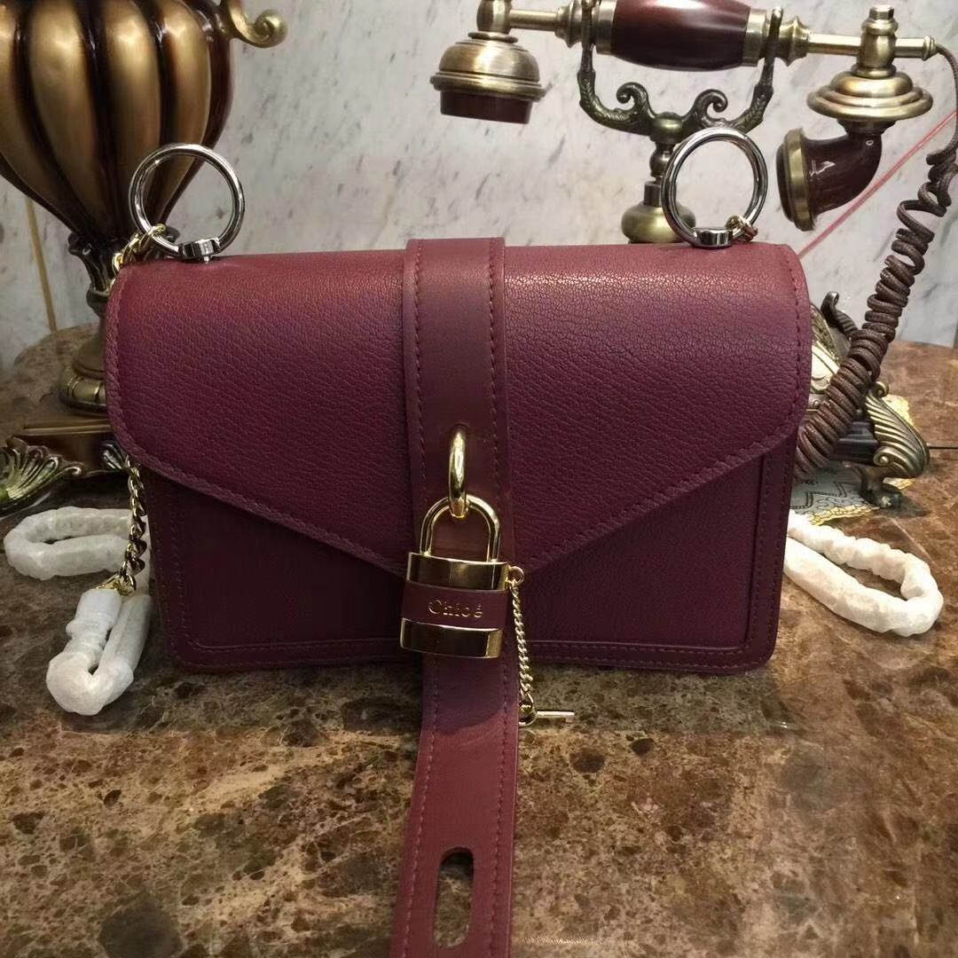 Chloe Original Calfskin Leather Bag 3S068 Burgundy