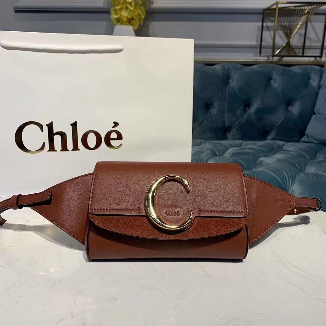 Chloe Original Leather Belt Bag 3S036 brown