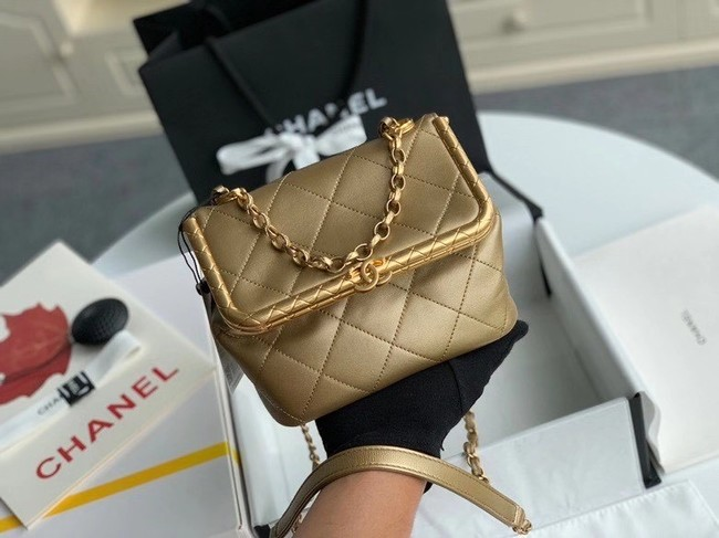 Chanel Original mini Magnet buckle bag AS1886 gold