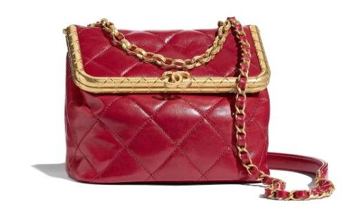 Chanel Original mini Magnet buckle bag AS1886 red