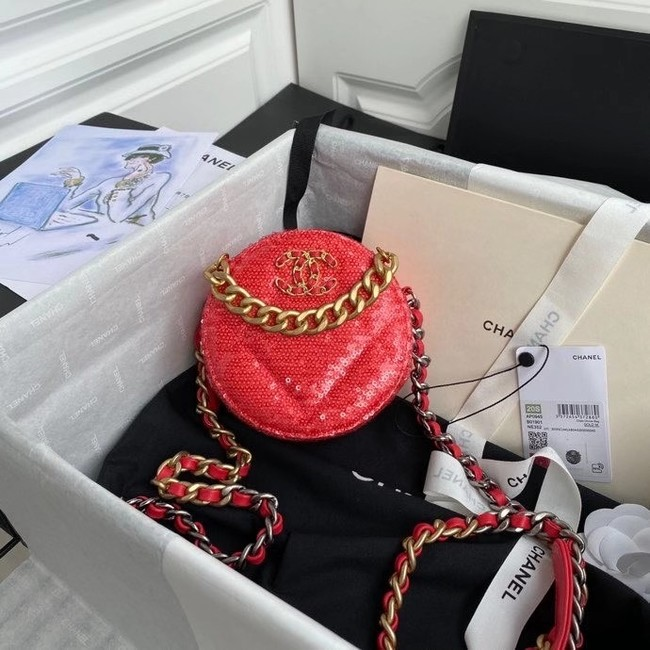 Chanel 19 chain Bag AP0945 red