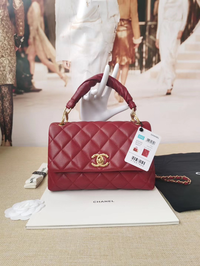 Chanel Original Lather Flap Bag AS2044 red