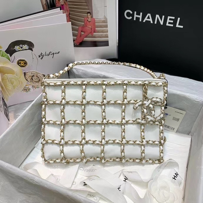Chanel Original Lambskin Small shopping bag AS1382 white