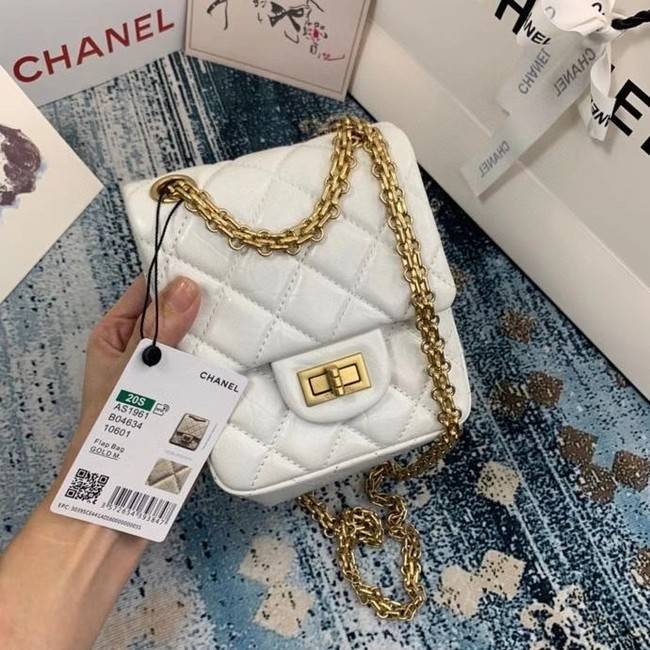 Chanel Small 2.55 Flap Bag AS1961 white